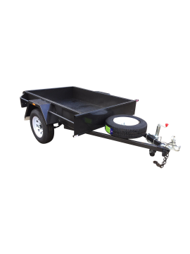 7x4 SINGLE AXLE DOMESTIC HEAVY-DUTY TRAILER | SMOOTH FLOOR