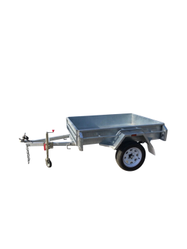 7X5 GALVANISED MANUAL TIPPER BOX TRAILER - HEAVY DUTY SINGLE AXLE – FULLY WELDED