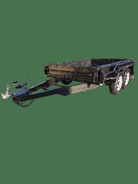 9x5 TANDEM AXLE DELUXE HEAVY-DUTY BOX TRAILER | FULL CHECKERPLATE BODY SIDESTEP