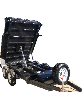 9X5 TANDEM AXLE STANDARD HYDRAULIC TIPPER TRAILER -NEW WHEELS -SPARE -JOCKEY